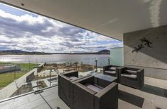 Absolute lakefront.  Spectacular executive accommodation.  Fully furnished and equipped with everything you need.   See website for more http://aurorakingstonlakefrontapartment.wordpress.com/