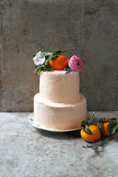Mandarin and lemon cake with cream cheese frosting
