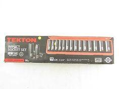 "TEKTON 1/2"" Dr. Deep Impact Socket Set (3/8""-1-1/4"") Cr-V 4880"