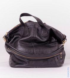 Кожаная сумка Givenchy Nightingale черная БОЛЬШАЯ