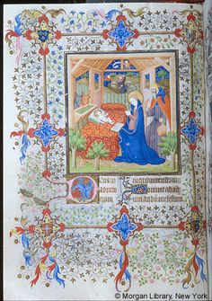 Book of Hours, MS M.1004 fol. 40v - Images from Medieval and Renaissance Manuscripts - The Morgan Library & Museum