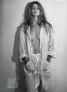 US Vogue April 1993 Claudia Undone Model: Claudia Schiffer Ph: Steven Meisel Fashion Editor: Grace Coddington