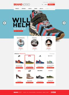 Shopping Template (free psd)
