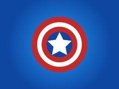 Design #CaptainAmerica Shield in Adobe Illustrator.