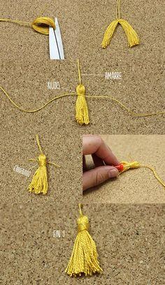 Tip: Cómo hacer borlas fácil // para birretes