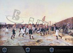"#ArteyFutbol ""The Córner Kick"" de Thomas Marie Madawaska Hemy 1895 la primera obra de arte dedicada al #futbol  #futbohemio"