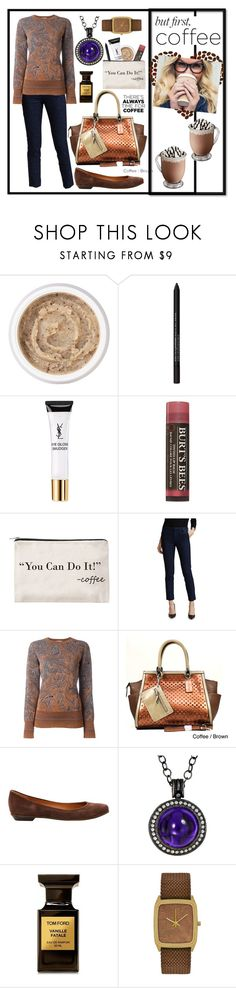 """""""Coffee Date: But First Coffee"""" by theshyfairy ❤ liked on Polyvore featuring Aromatherapy Associates, Bare Escentuals, Yves Saint Laurent, Burt's Bees, Zad, J Brand, Lanvin, Dasein, Givenchy and Alex Soldier"""
