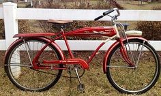 I remember the Christmas that my brother  I got our Huffy bicycles!  Mine was PINK!  1950s Huffy Bike