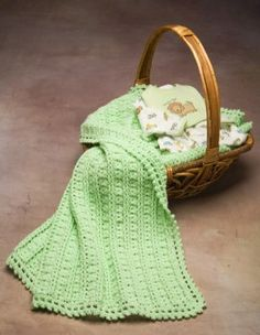 Dainty Baby Blanket - free crochet pattern**by premier yarns.com-- sweet color!** thanks so for pdf xox