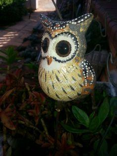 From Irene market. Ceramic Owl, Pretoria, Irene, Owls, Birds, Ceramics, Christmas Ornaments, Holiday Decor, Garden