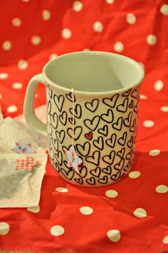 "Cute cup.  Would be fun to use ""the sharpie treatment"". Make your own cup.:-)"