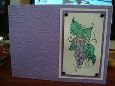 Simple but elegant Stampin up stamp- fruit stand