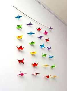 Mobile origami - Fil et pampilles