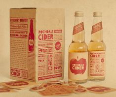 ROCHDALE CIDER PACKAGING. Vintage feel packaging, makes us want to drink the product.