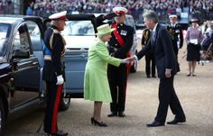 zimbio:  Queen Elizabeth and the Duke of Edinburgh attended The Royal Marines 350th Anniversary Beating Retreat at The Royal Horseguards, London, June 4, 2014.