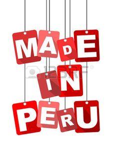 Vector illustration background. Made in Peru.