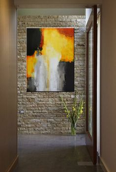 Large Abstract Acrylic Painting by Charlen's Abstracts
