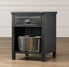 Hughes Nightstand | Nightstands & Side Tables | Restoration Hardware Baby & Child - baseball bedroom idea