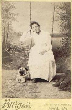 Vintage studio portrait of young woman and pug Pug Photos, Photos With Dog, Pug Pictures, Pug Pics, Old Pug, Black Pug Puppies, Pug Art, Cute Pugs, Funny Pugs