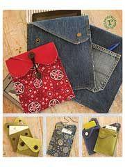 Handbag & Insert Sewing Patterns - Take-Two Tech Pouch Sewing Pattern