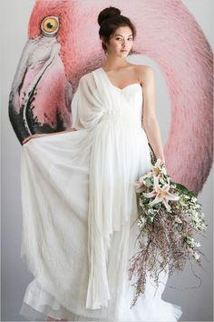 grecian wedding gown http://www.weddingchicks.com/2013/12/16/wedding-in-northern-spain/