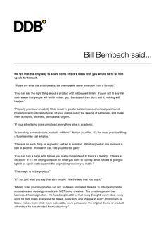 Bernbach quotes by Nikolai Fedyanin via slideshare