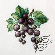 Blackcurrant - Cross Stitch Kits by RTO - Cupcake Cross Stitch, Cross Stitch Fruit, Small Cross Stitch, Beaded Cross Stitch, Cross Stitch Kits, Cross Stitch Charts, Cross Stitch Embroidery, Cross Stitch Patterns, Elephant Cross Stitch