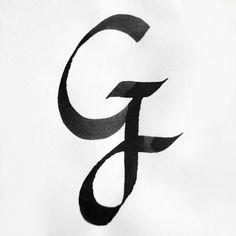 Calligraphy Alphabet G
