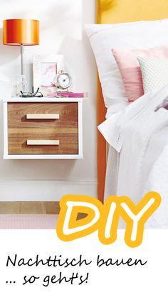 Bett-Schränkchen selber bauen - hier geht's zur ANLEITUNG zu unserem Nachttisch-DIY >>>