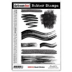 Darkroom Door Rubber Stamp Set - Brush Strokes - NEW