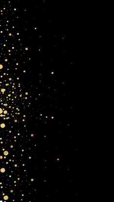 Wallpaper | Gold dots on black