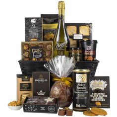 Virginia Hayward Black &Amp; Gold Hamper (The Magic Of Christmas) (5.415 RUB) ❤ liked on Polyvore featuring home and kitchen & dining