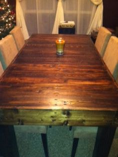 A Pallet Wood Topper For Your Dining Room Tablegenius You Can Extraordinary Dining Room Tables Wood Inspiration