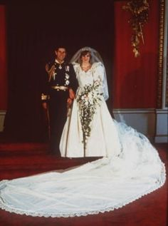 Princess Diana and Prince Charles pose for their official wedding photograph in London on July 29, 1981.
