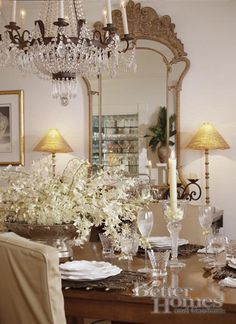Better Home  & Gardens Took this photo of our dining room for our gracious gala last year.......