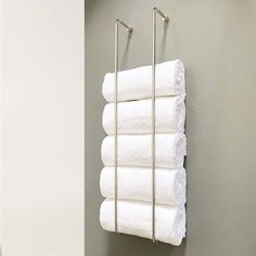 Bathroom Towel Storage, Glass Shelves In Bathroom, Bathroom Storage Solutions, Towel Shelf, Towel Racks For Bathroom, Shelves Above Toilet, Camper Bathroom, Bathroom Renos, How To Roll Towels