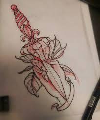 Resultado de imagen para neo traditional dagger tattoo