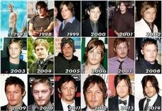 Norman Reedus - 1997 - 2014. He is one of those that gets sexier with age!