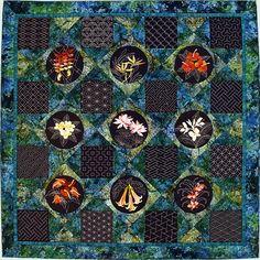 Tropical Sashiko Sampler Quilt by Sylvia Pippen