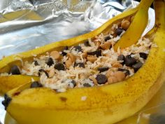 Stuffed Banana Boats