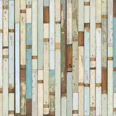 Distressed wooden 'wallpaper'