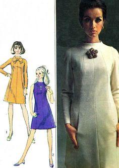 1960s Dress Pattern Simplicity 7239 Funnel Neck by paneenjerez, $14.00