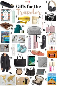 travel essentials Gift Guide for the Traveler Travel Bag Essentials, Road Trip Essentials, Packing Tips For Travel, Travel Ideas, Airplane Essentials, Travel Must Haves, Travel Necessities, Europe Packing, Traveling Europe