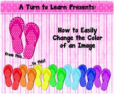 Classroom Freebies Too: Easily Change the Color of an Image... in a Free Program!