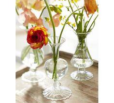 Rippled Glass Bud Vase, Set of 3   Pottery Barn