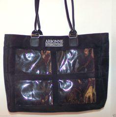 Arbonne International Consultant Picture Tote Bag Black #Arbonne