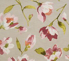 Pindler Fabric Pattern #P0285-Plumaria, color Silver www.pindler.com