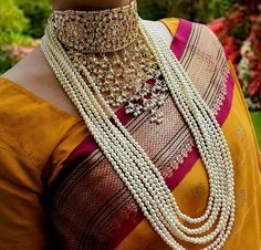 Choker # 8 layer pearl neck piece # traditional Jewelry #