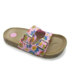 Love this Fuchsia Hanging Flower Comfort Jelly Slide Sandal by Blue Suede Shoes on #zulily! #zulilyfinds