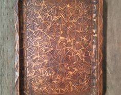 Antique or vintage octagonal wooden serving tray by indiecreativ